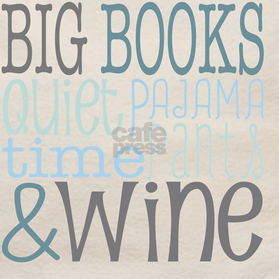 Big Books Quiet Time Pajama Pants Wine