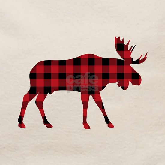 Plaid Moose Animal Silhouette