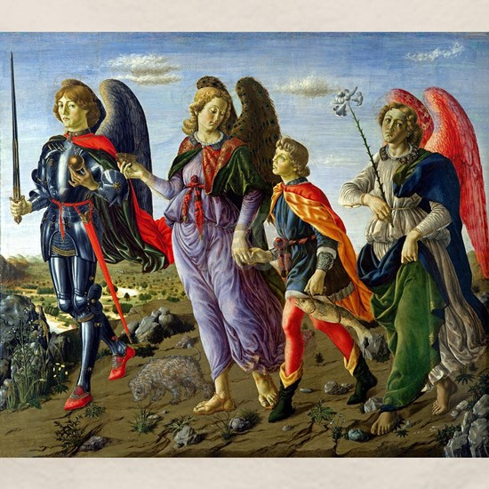 Francesco Botticini - Three Archangels and Tobias