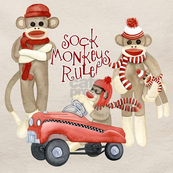Retro Sock Monkey Pedal Car Monkeys Rule