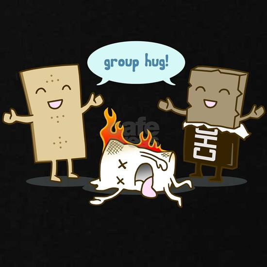 Flaming Marshmallow - Group Hug!