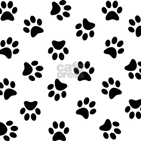 Black Pawprint pattern