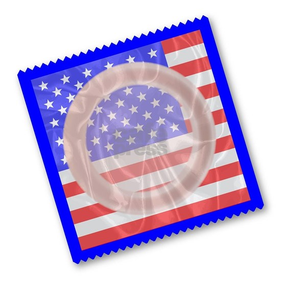 Stars And Stripes Condom