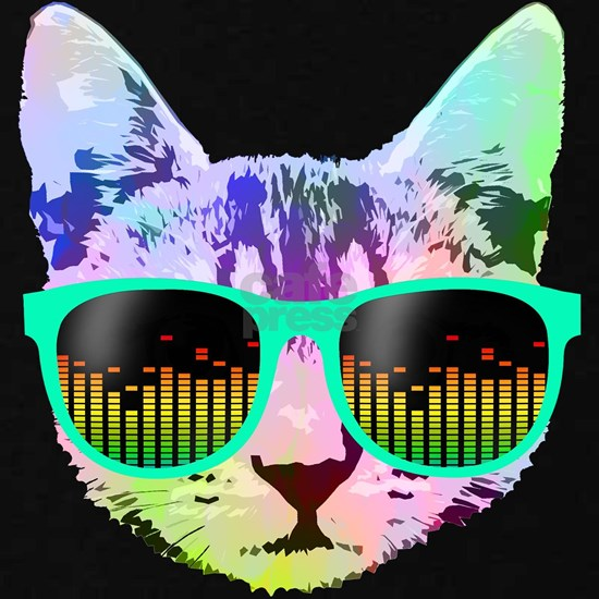 Rainbow Music Cat