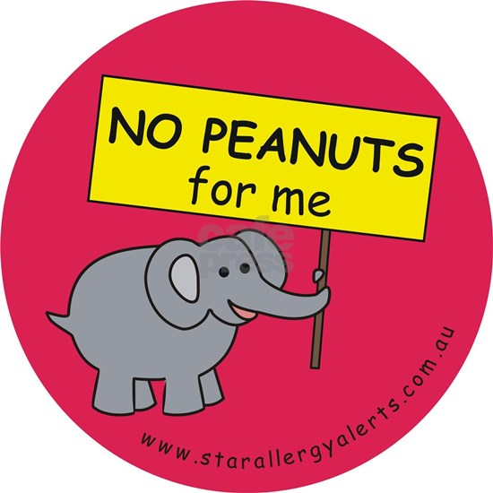 NO PEANUTS for me - allergy alert