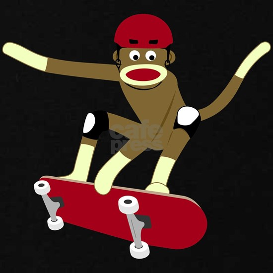 Sock Monkey Skateboarder