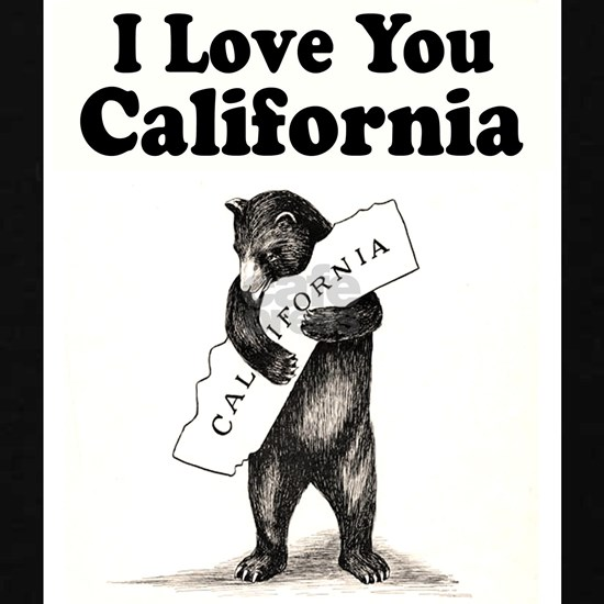 Vintage  I Love You California State Bear