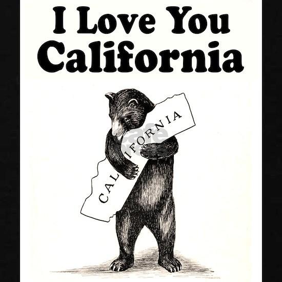 Vintage  I Love You California State Bear
