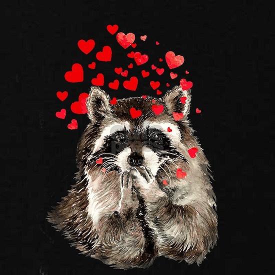 Raccoon Blowing Kisses Cute Animal Love