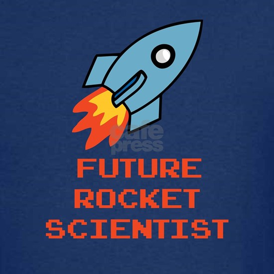 future rocket scientist_orange Kids Dark T-Shirt Future ...