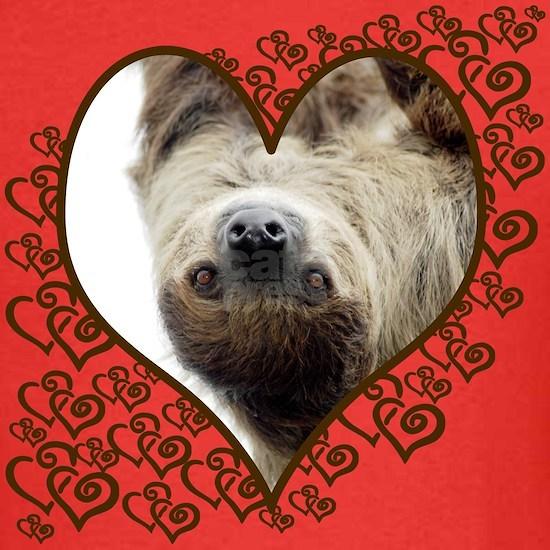 Sloth Swirling Hearts T-shirt