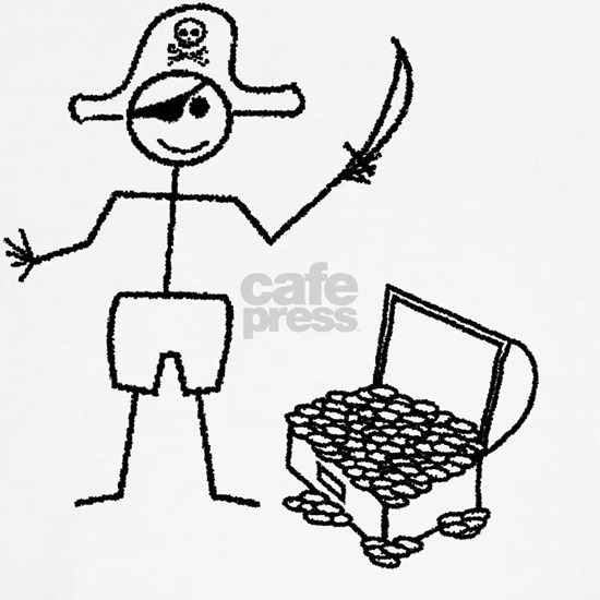 Pirate Stickman With Treasure Chest