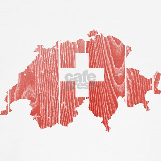 Switzerland Flag and Map Wood