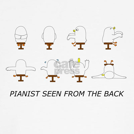 Pianist seen from the back