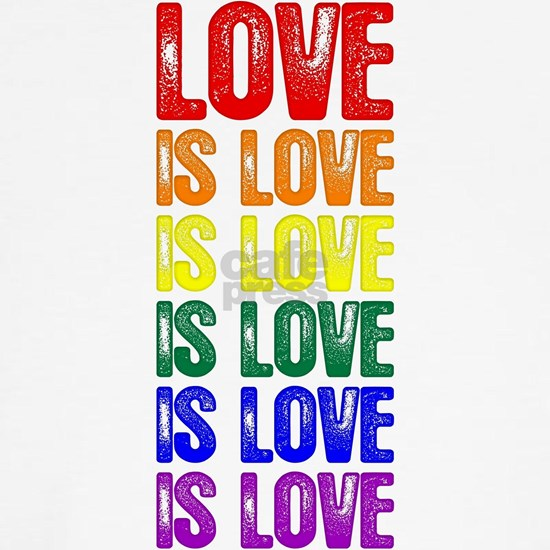 Rainbow Gay Pride Love is Love is Love