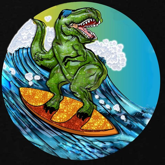 T Rex Surfing Dude