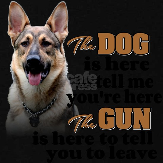 Beware of Dog/Gun - GSD