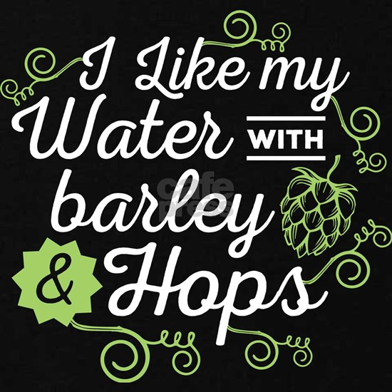 Beer Lover I Like My Water With Barley And Hops Gi