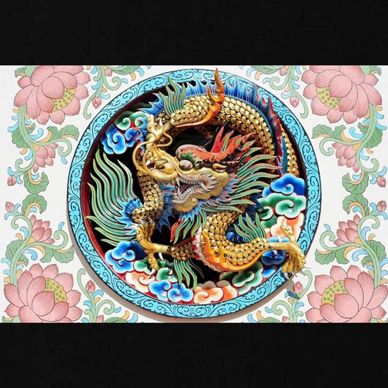 Asian Chinese Japanese Colourful Dragon Cool Paint