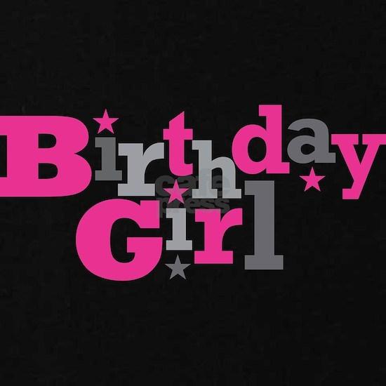 Pink Birthday Girl Star