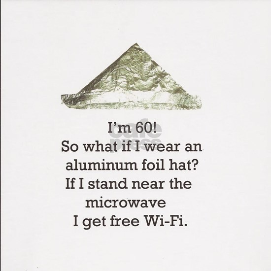 60th Birthday Aluminum Foil Hat