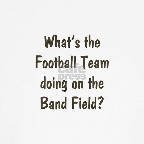 Football Team on Band Field