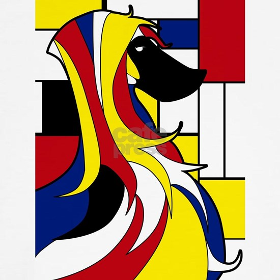 Geometric Afghan Hound Abstract