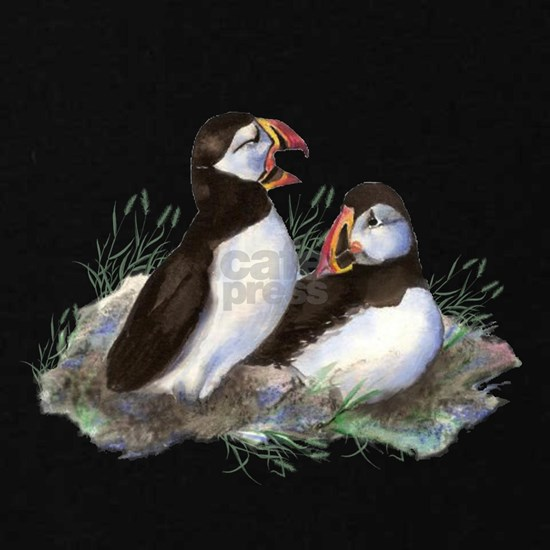 Cute Watercolor Puffin Ocean Bird Art