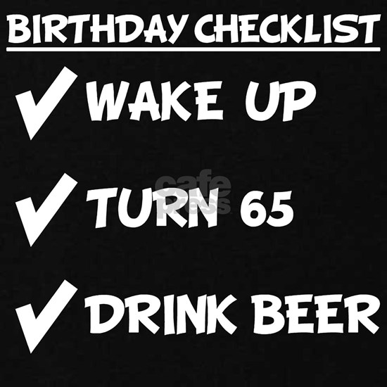 65th Birthday Checklist Drink Beer