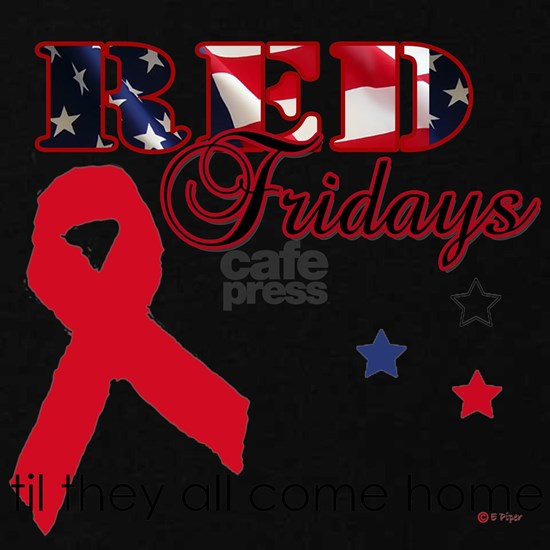 Red Fridays Ribbon