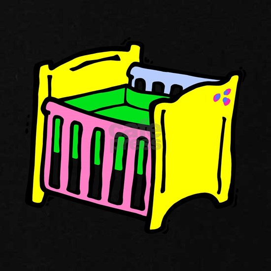 baby crib colorful graphic