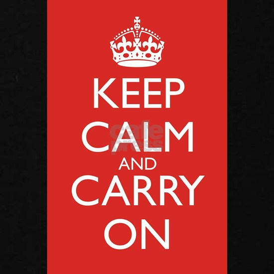Keep Calm and Carry On White on Red 7000x46