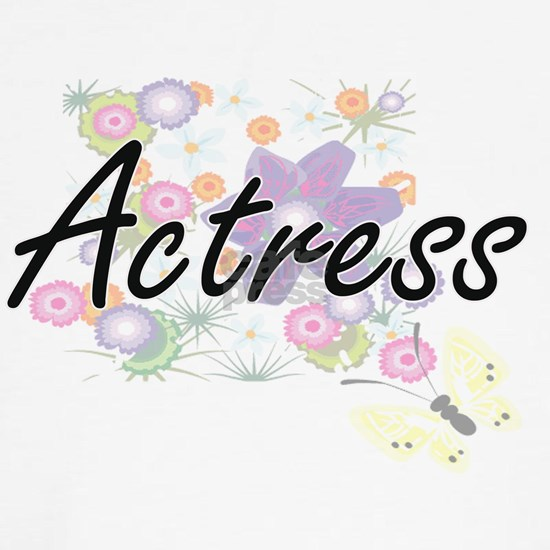 Actress Artistic Job Design with Flowers