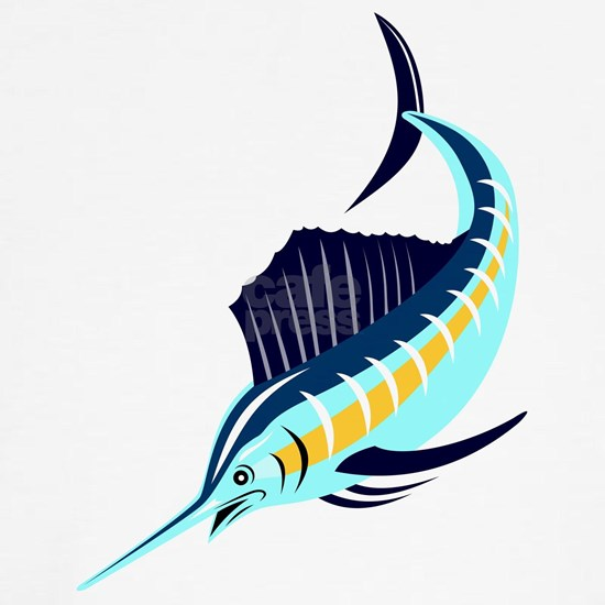 sailfish diving down