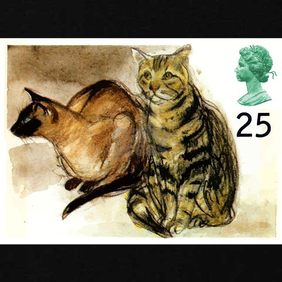 Vintage 1995 Great Britain Cats Postage Stamp