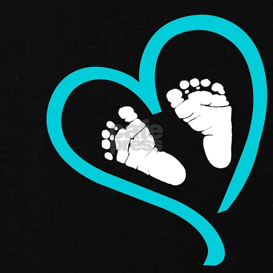Baby Feet Heart Blue