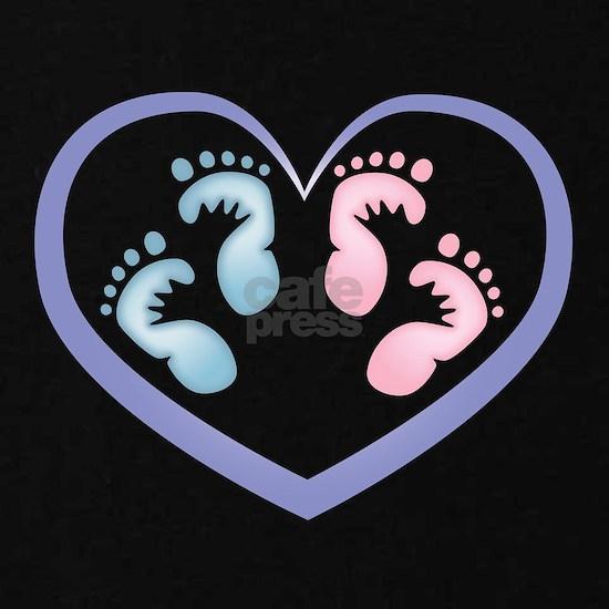 Boy / Girl Twins Footprints