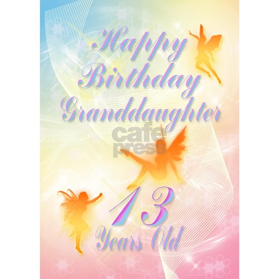 Flower fairy birthday card for granddaughter age 1