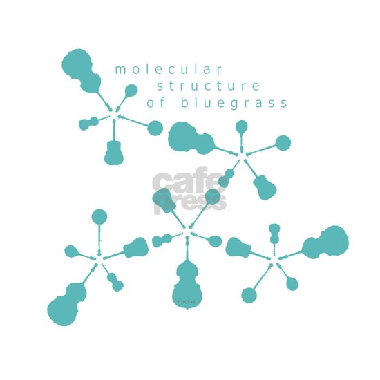 molecular structure of bluegrass transparent greeting card