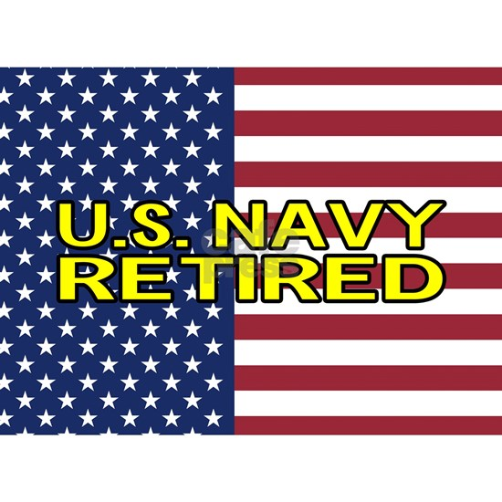 U.S. Navy: Retired (American Flag)