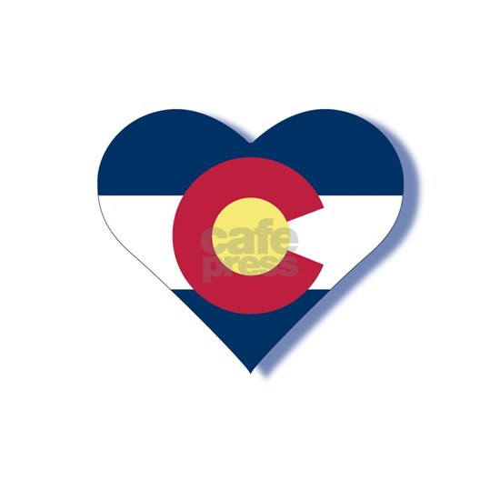 Colorado Flag Heart