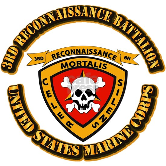 SSI - 3rd Reconnaissance Bn With Text USMC