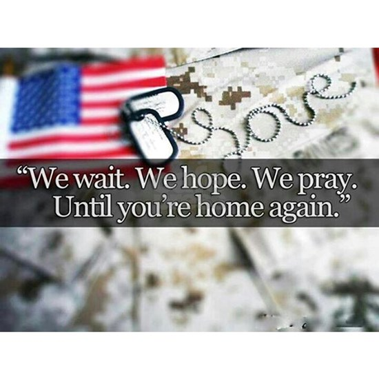 We wait for our troops