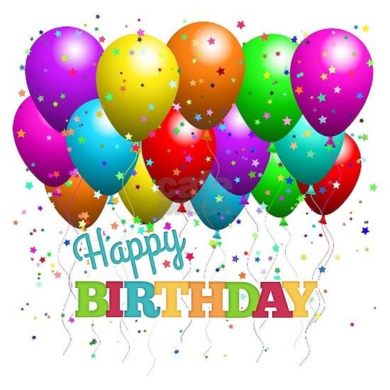 Trendy Happy Birthday Balloons
