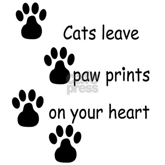 Cats leave paw prints on your heart tshirts