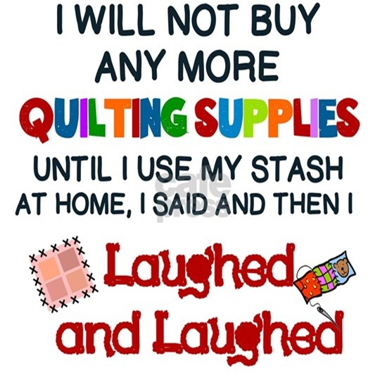 I WILL NOT BUY ANY MORE QUILTING SUPPLIES...