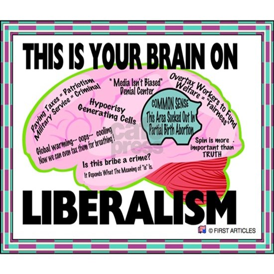The Liberal Brain Sign