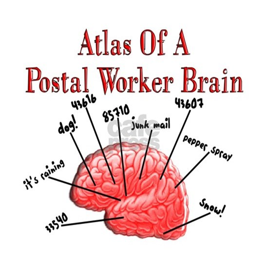 Atlas of a Postal Worker Brain