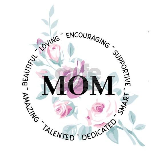 Mom Floral Circle Design