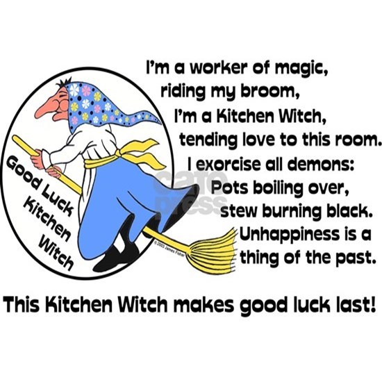 Norwegian Good Luck Kitchen Witch Magnet